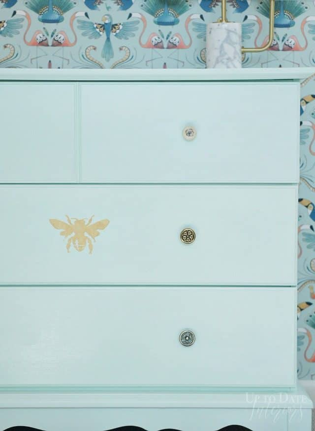 Mint Painted Dresser For Girls Room