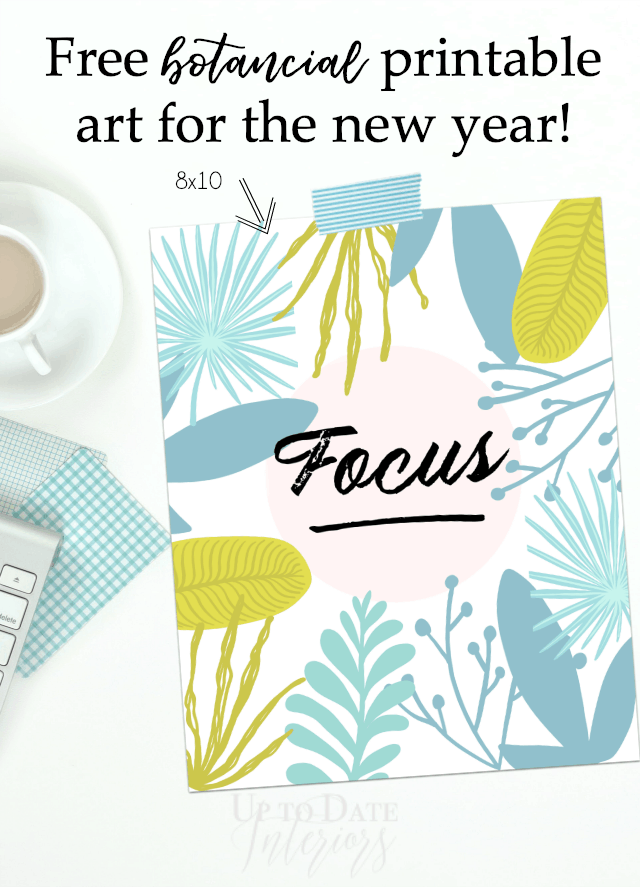 Printable Art For The New Year graphic with the word Focus