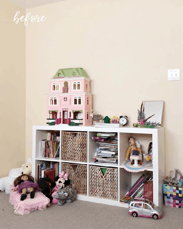 Ikea Kallax Bookcase Before
