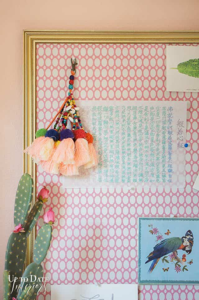 Bulletin Board Display Vintage Boho
