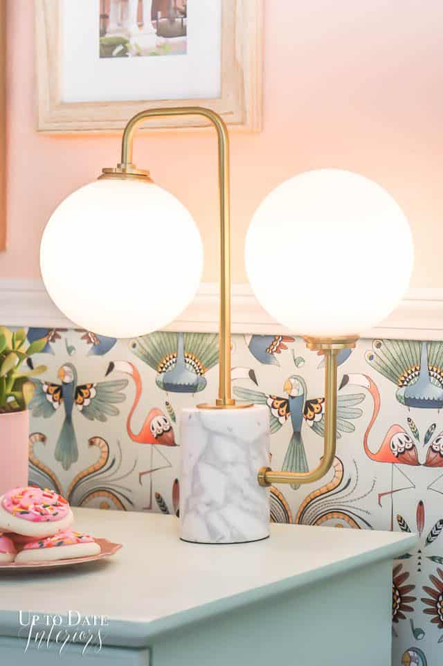 Cookies Plant Wallpaper Light And Mint Dresser