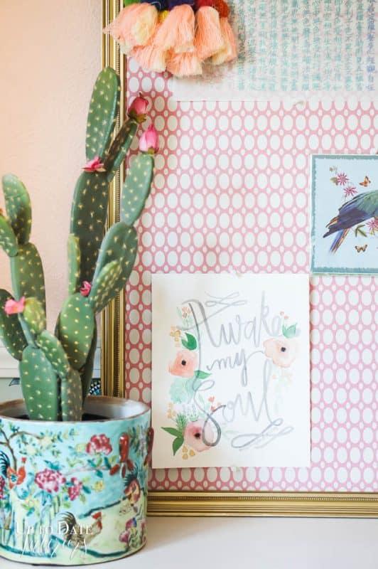 Fake Cactus Girls Room