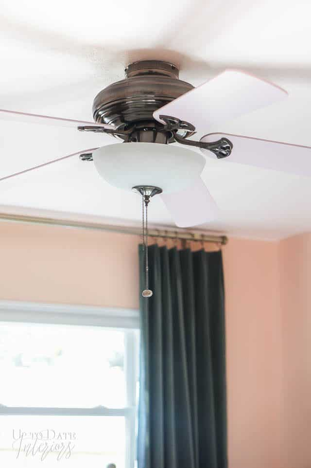 Painted Ceiling Fan Blades Pink