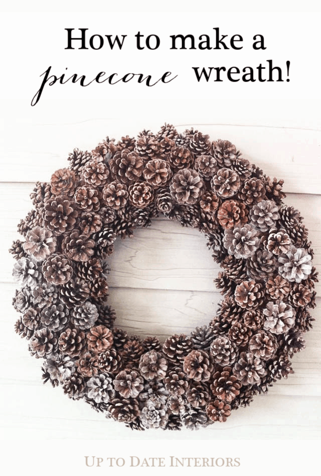 Pinecone Wreath Pinterest Black