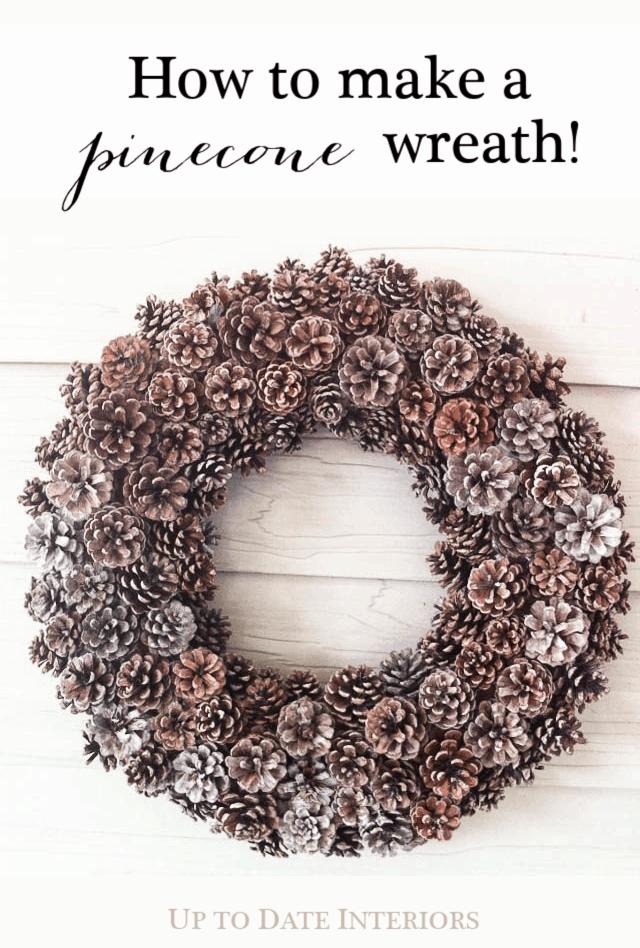 Pinecone Wreath Pinterest Black