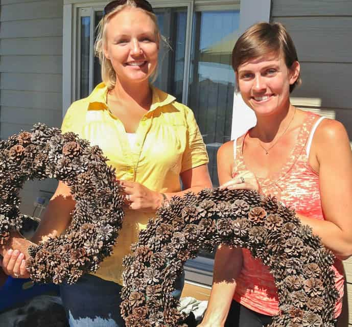 Pinecone Wreaths 2