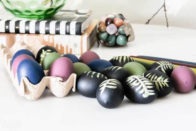 Diy Easter Eggs Botancial Hand Painted Moody Colors 2