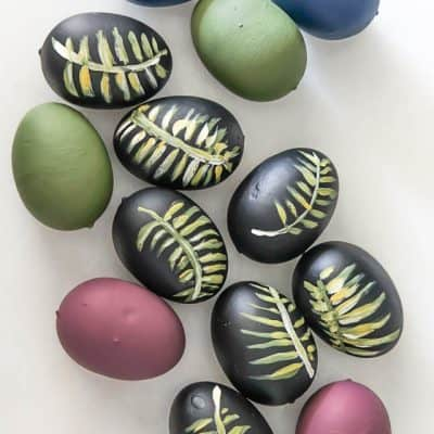 Diy Easter Eggs Botancial Hand Painted Moody Colors 5