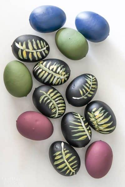 Diy Easter Eggs Botancial Hand Painted Moody Colors 5