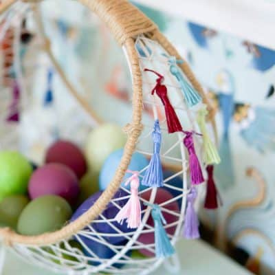 Boho Easter Basket With Tassels