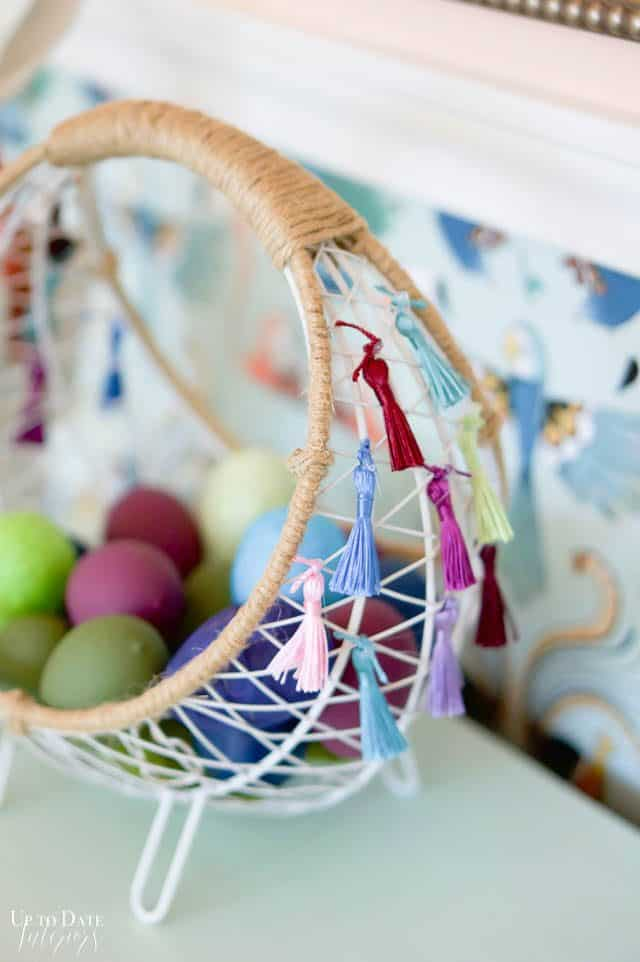 Boho Easter Basket With Tassels