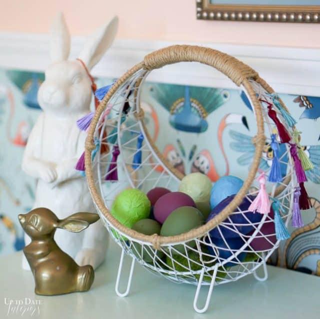 Boho Easter Basket With Tassels 7