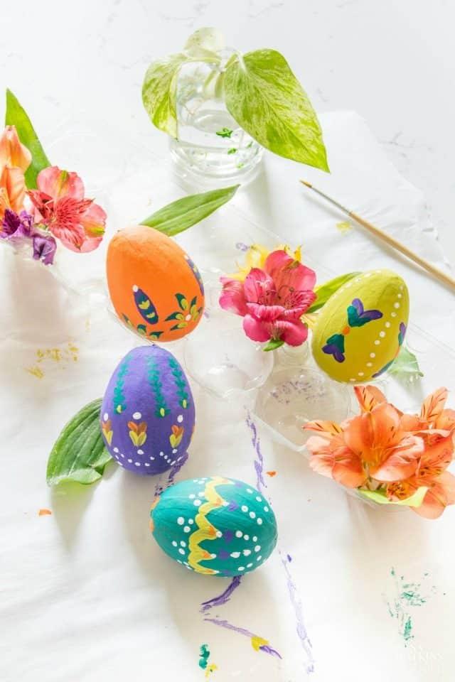 Diy Folk Art Easter Eggs