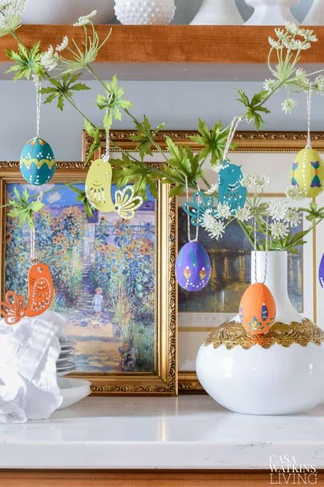 Folk Art Bohemian Easter Tree