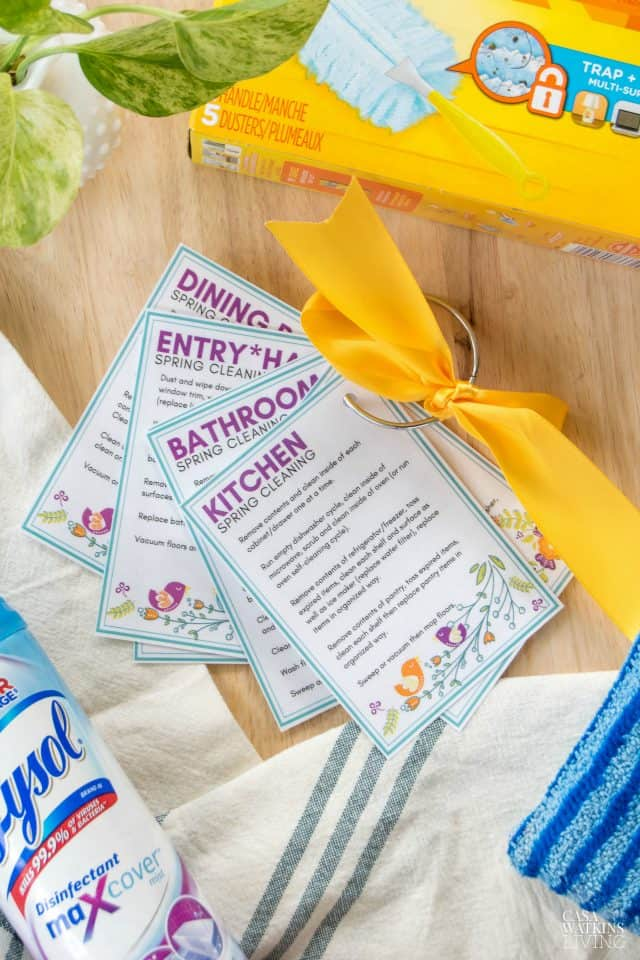 Free Printable Spring Cleaning Checklist Cards