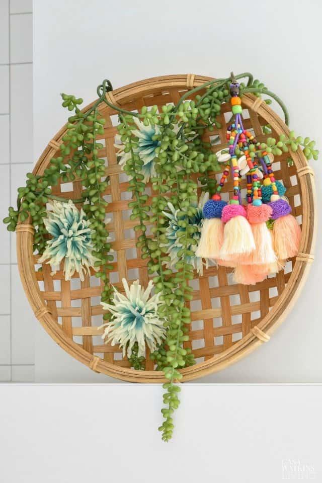 Gypsy Boho Spring Basket Wreath