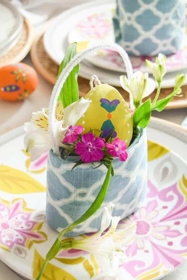 How To Fold Easter Basket Napkin