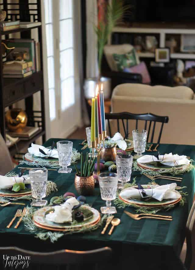 Modern Easter Tablescape With Moody Colors 10