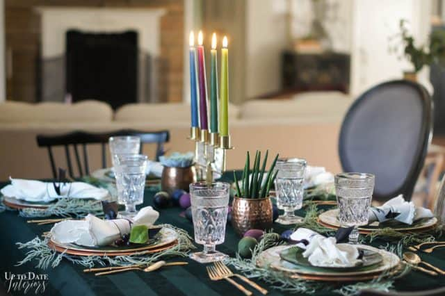 Modern Easter Tablescape With Moody Colors 11