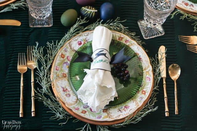Modern Easter Tablescape With Moody Colors 12