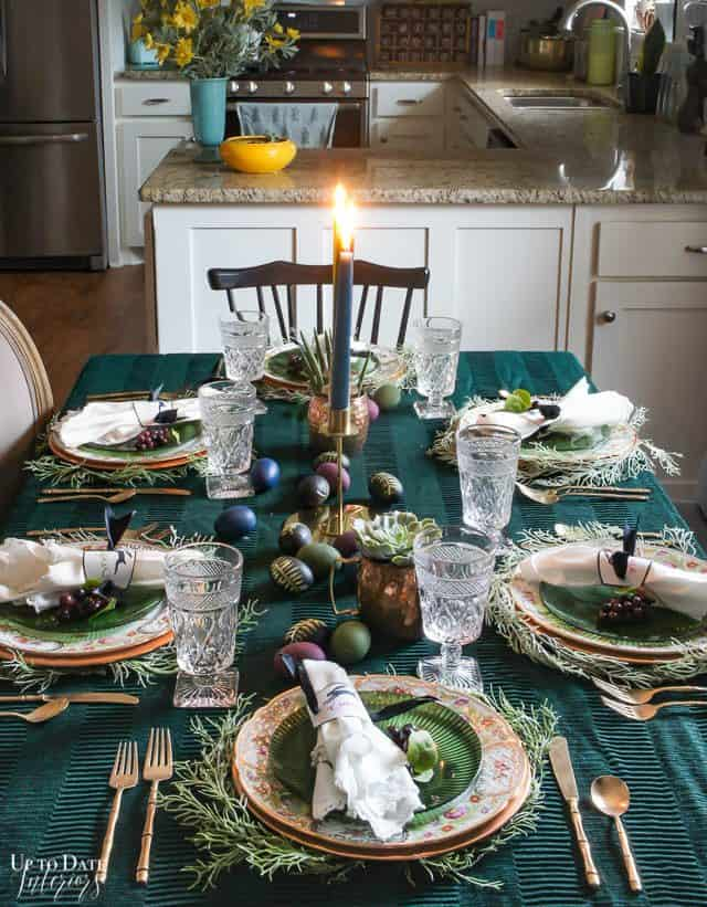 Modern Easter Tablescape With Moody Colors 13