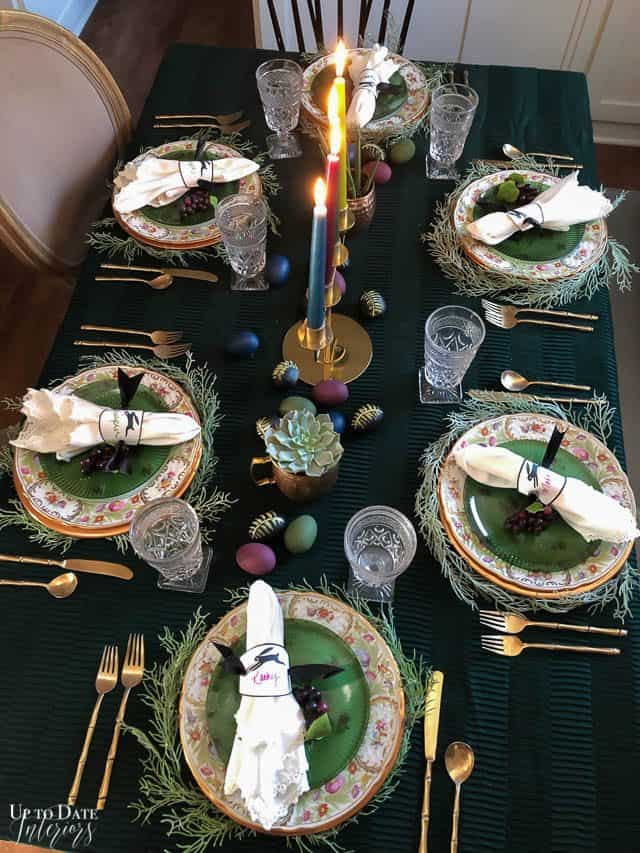Modern Easter Tablescape With Moody Colors 2