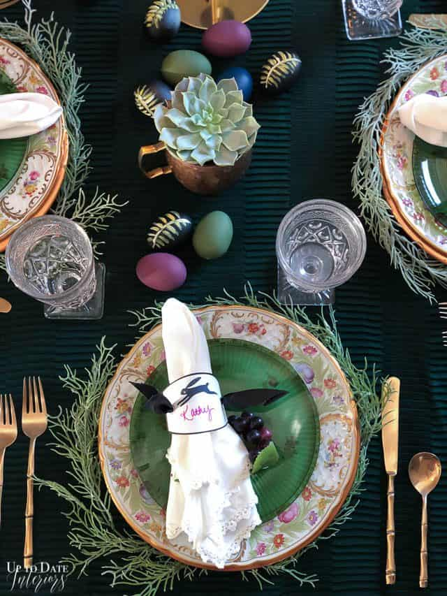 Modern Easter Tablescape With Moody Colors 3