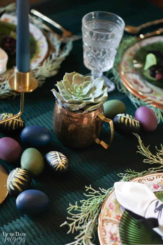 Modern Easter Tablescape With Moody Colors 5