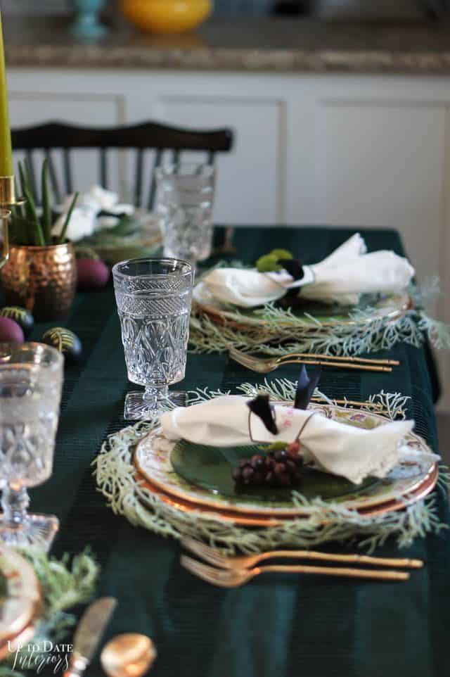 Modern Easter Tablescape With Moody Colors 6