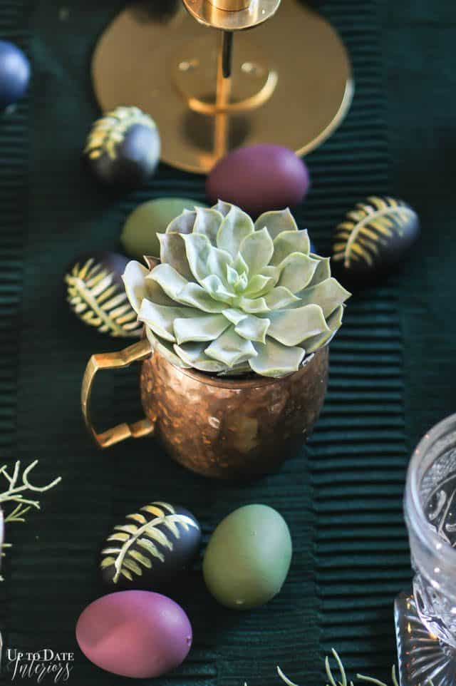 Modern Easter Tablescape With Moody Colors 8