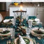 Moody Tablescape Pinterest Blue