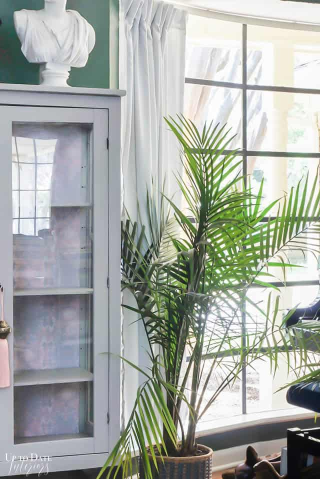 Boho Glam Cabinet Makeover With Removable Wallpaper 12