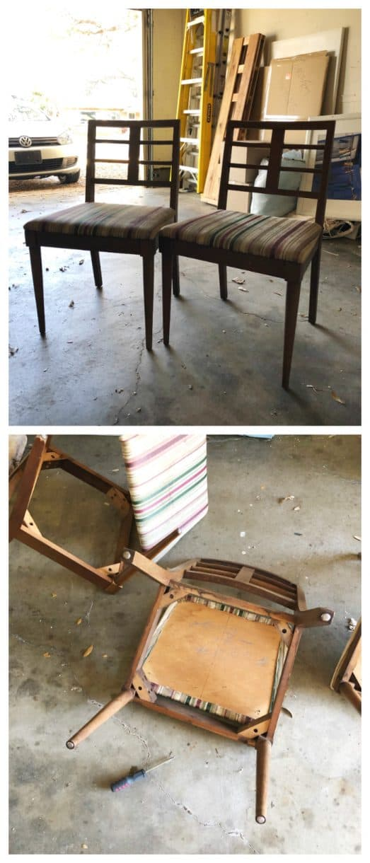 mid century modern chairs thrifted