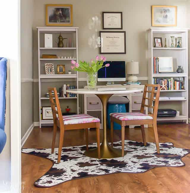 Office Refresh With Chair Makeover 2
