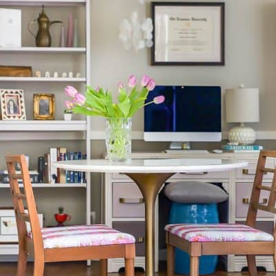 Office makeover on a budget with a furniture makeover