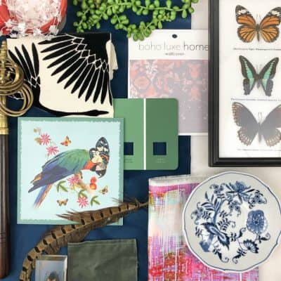 One Room Challenge Eclectic Glam Living Dining Mood Board