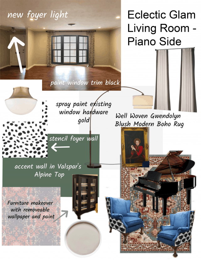 Piano Side Mood Board Well Woven