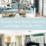 Eclectic Glam Living Dining With Piano Makeover Budget Friendly Diys Pinterest 640