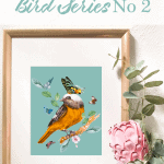 Bird Series No 2 Pinterest Blue Font