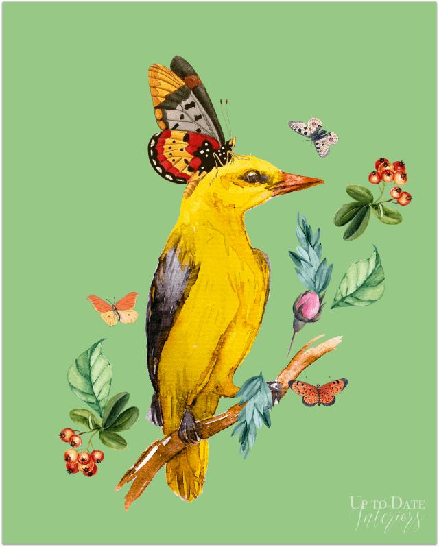 Bird Series Yellow Watermark 640