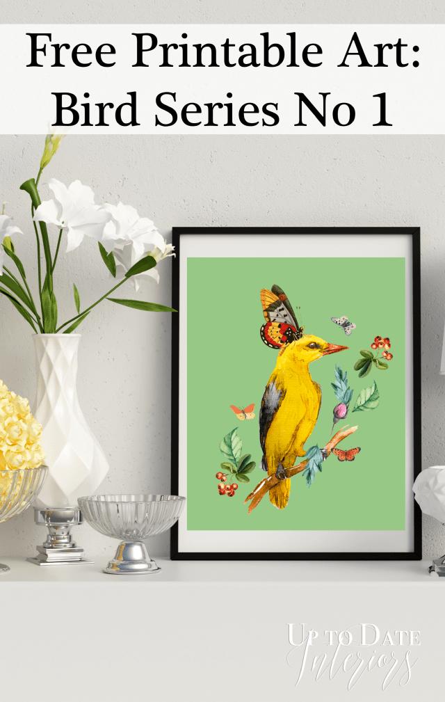 Pinterest Yellow Bird Free Printable wall Art