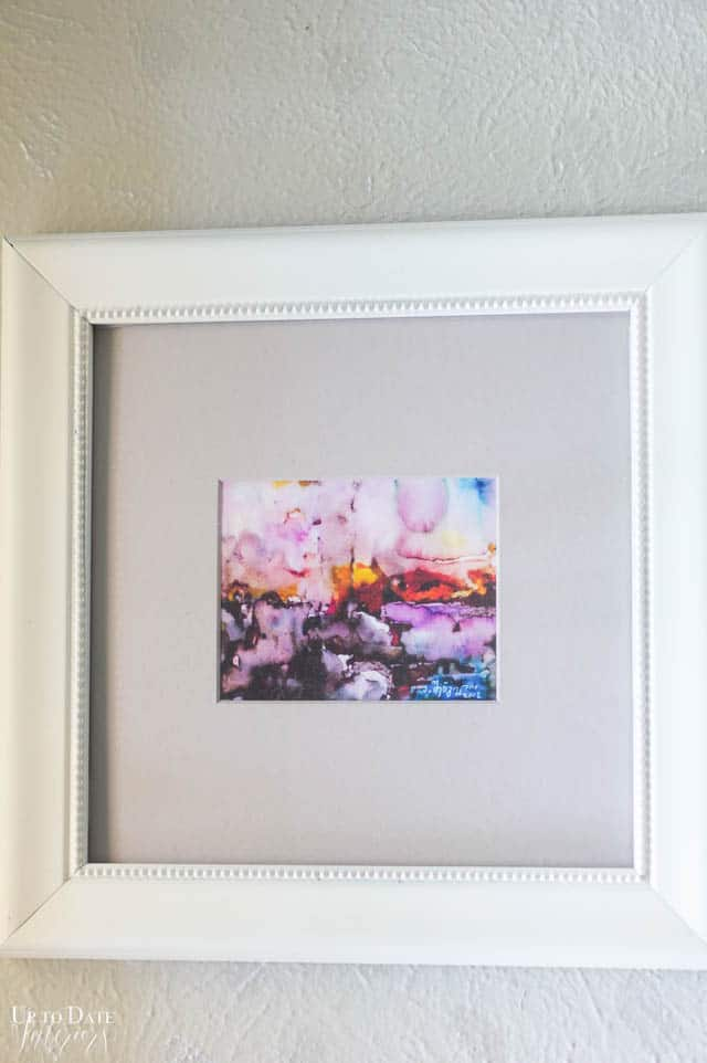 watercolor with white frame square