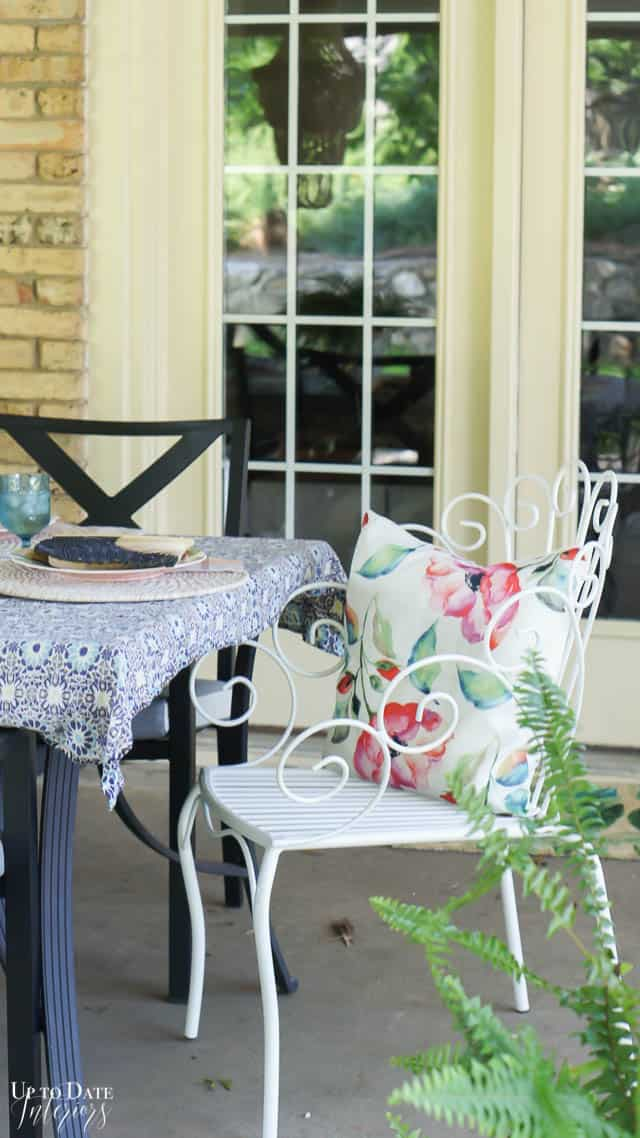 Bright Colorful Patio Table Setting 10