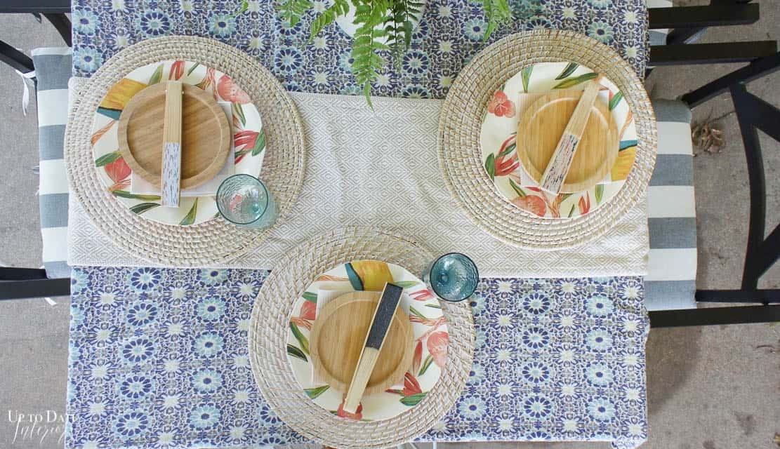 Bright Colorful Patio Table Setting 18