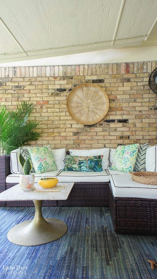 Bright Colorful Patio Table Setting 21