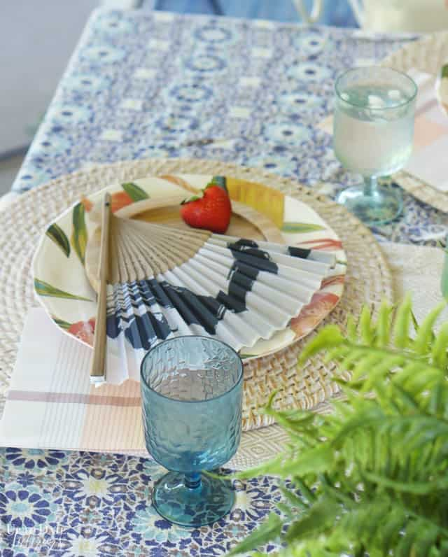 Bright Colorful Patio Table Setting 4