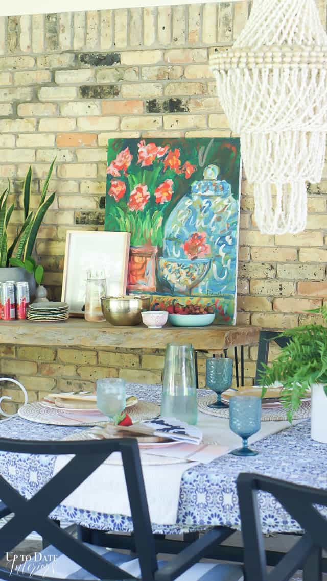 Bright Colorful Patio Table Setting