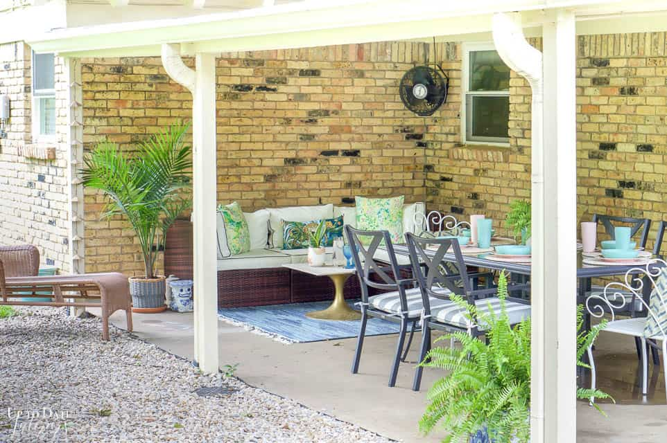 Eclectic Home Summer Tour Patio 10