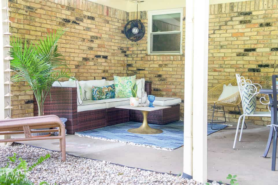 Eclectic Home Summer Tour Patio 13