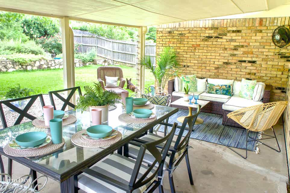 Eclectic Home Summer Tour Patio 14